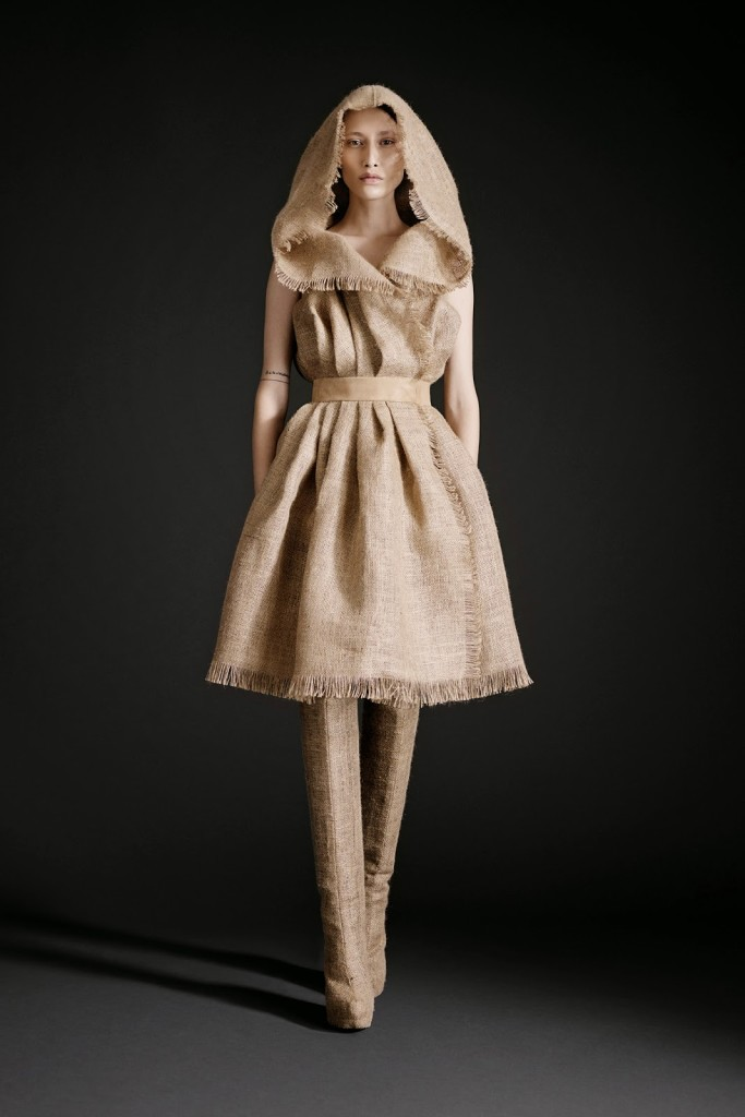 платье мешковина